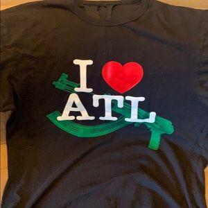 Vlone T-shirt I Love Atl Xlarge